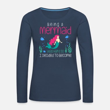 Customizable design mermaid underwater - Women's Premium Longsleeve Shirt