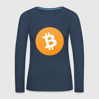 Bitcoin originale Cash Icon - T-shirt manches longues Premium Femme