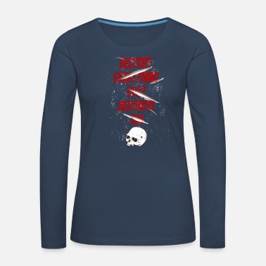 Destroyed Destroy - Women's Premium Longsleeve Shirt