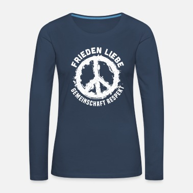 Community Peace Love Community Respect Peace - T-shirt manches longues Premium Femme