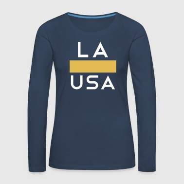 Texas LA Los Angeles USA Gold White - Women's Premium Longsleeve Shirt