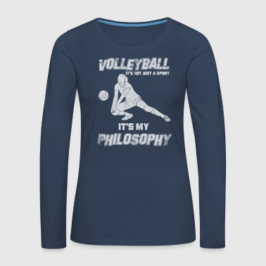 Volleyball Volleyball Philosophy setting - Women's Premium Longsleeve Shirt