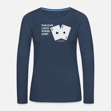 Las Vegas Jeu de cartes Poker Casino Las Vegas All in Retro - T-shirt manches longues Premium Femme