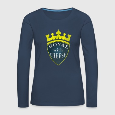 Royal with Cheese - Burgers - Vrouwen Premium shirt met lange mouwen