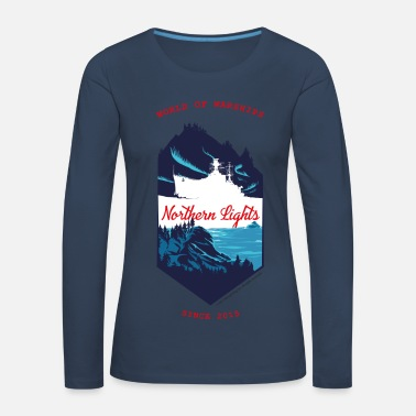 Northern Lights World Of Warships Northern Lights North - Frauen Premium Langarmshirt