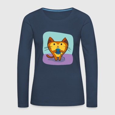Cat with wool - Women's Premium Longsleeve Shirt