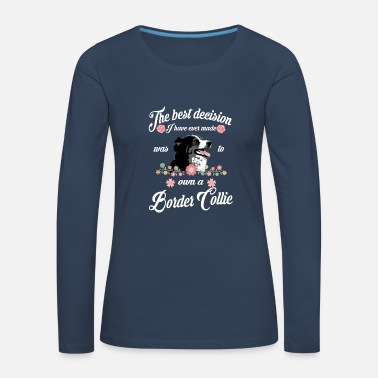 Wine Border Collie - Women's Premium Longsleeve Shirt