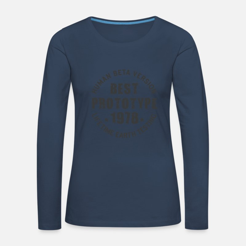 Birthday Long Sleeve Shirts - 1978 - The year of birth of legendary prototypes - Women's Premium Longsleeve Shirt navy