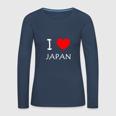 I Love JAPAN - Frauen Premium Langarmshirt