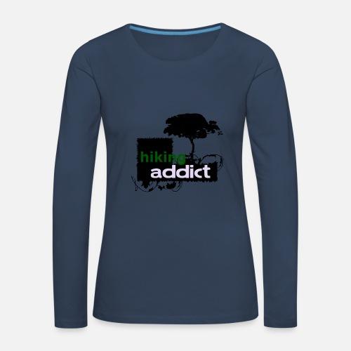 RANDONNEE ADDICT - l amour pour la randonnée T-shirt manches longues  premium Femme   Spreadshirt 89fbe15b6af7