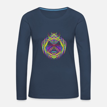 Psychedelic face trippy abstract psychedelic colorful - Women's Premium Longsleeve Shirt