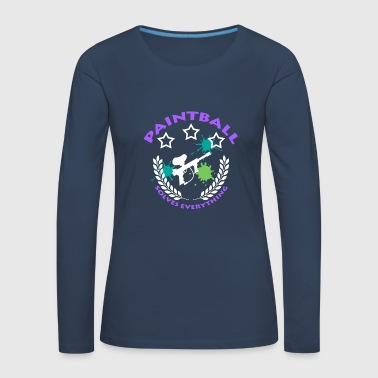 Paintball, Gotcha, - Women's Premium Longsleeve Shirt