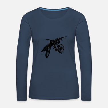 Bicycle Black Mountain Bike Gift Gift Idea - Women's Premium Longsleeve Shirt