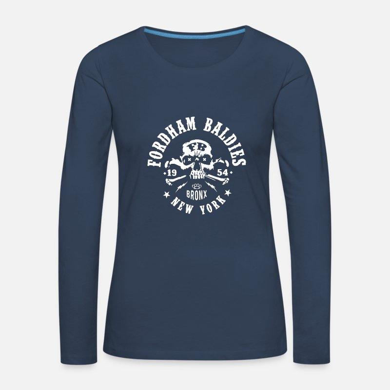 Baldies Long Sleeve Shirts - Fordham Baldies - Women's Premium Longsleeve Shirt navy