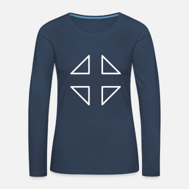 Crosshair Crosshair crosshair fighter triangle triangles - Women's Premium Longsleeve Shirt