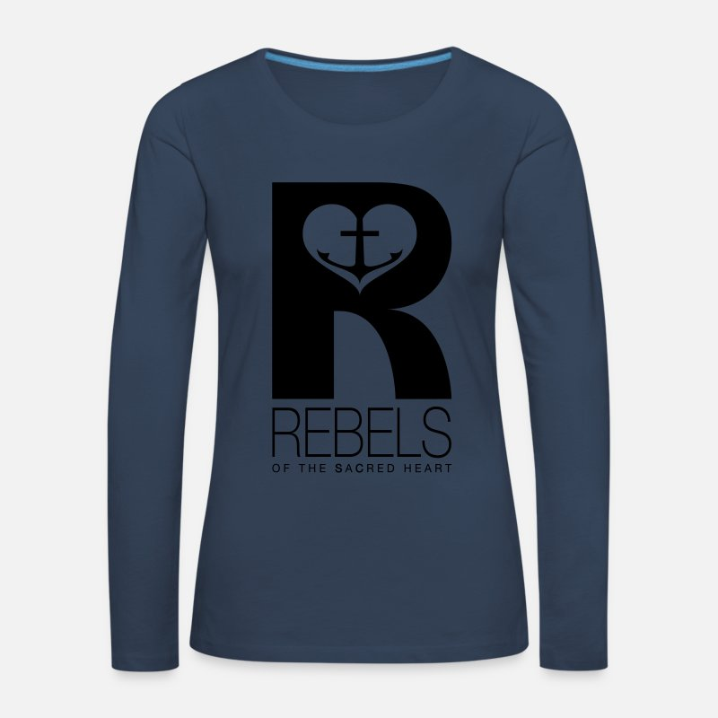 Love Long Sleeve Shirts - Rebels of the sacred heart - Women's Premium Longsleeve Shirt navy