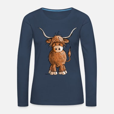 Cow Scottish Highland Cattle - Women's Premium Longsleeve Shirt