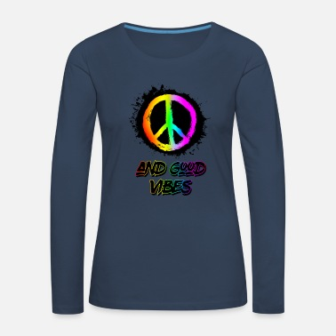 peace and good vibes - Women's Premium Longsleeve Shirt