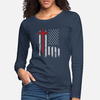 America God and America - Women's Premium Longsleeve Shirt