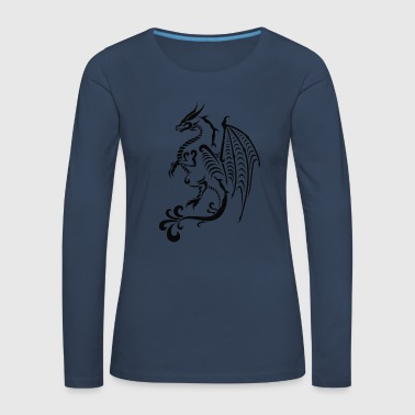 Tribal Dragon Dragon - Tribal - Women's Premium Longsleeve Shirt