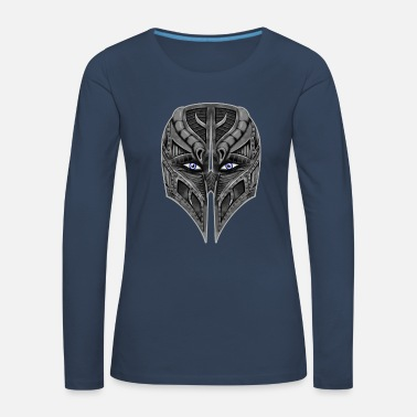 Alien Robot warrior - Women's Premium Longsleeve Shirt