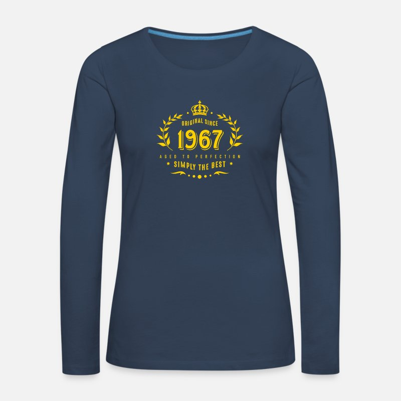 Established Long Sleeve Shirts - original since 1967 simply the best 50th birthday - Women's Premium Longsleeve Shirt navy