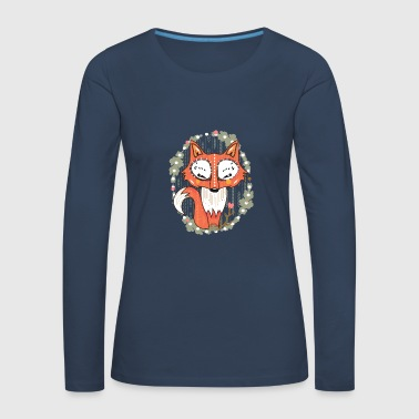a small fox in the forest  - Women's Premium Longsleeve Shirt