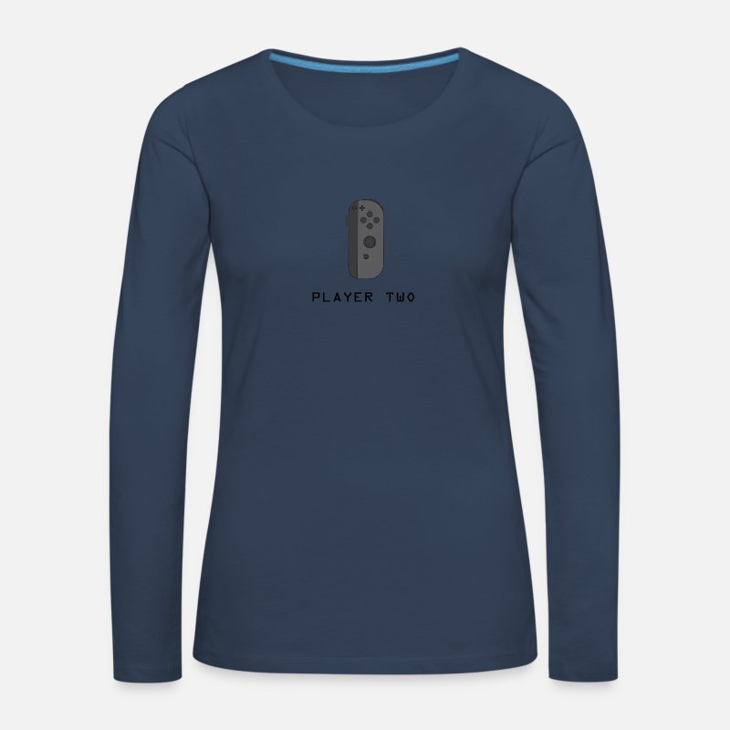 Awesome Long Sleeve Shirts - ¿Ready Player Two? - Women's Premium Longsleeve Shirt navy