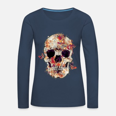 Tête De Mort skull-and-butterfly - T-shirt manches longues Premium Femme