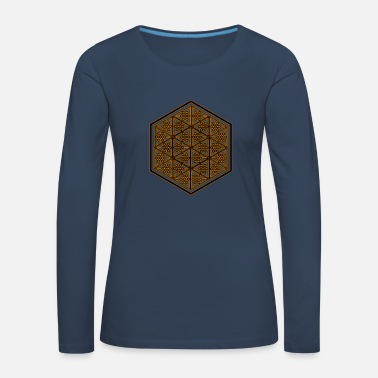 Psychedelic Sacred Geometry T Shirt Psychedelic Pattern Goa - Women's Premium Longsleeve Shirt