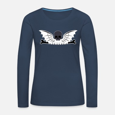 Skull skull and wings - Women's Premium Longsleeve Shirt