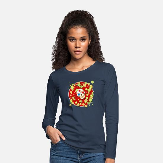 Poison Long sleeve shirts - Poison corn 4 - Women's Premium Longsleeve Shirt navy