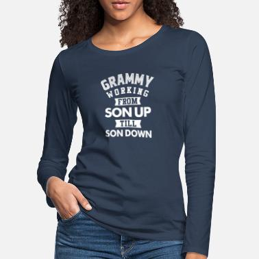 fed74ccd6 Grammy Grammy Working - Women's Premium Longsleeve Shirt