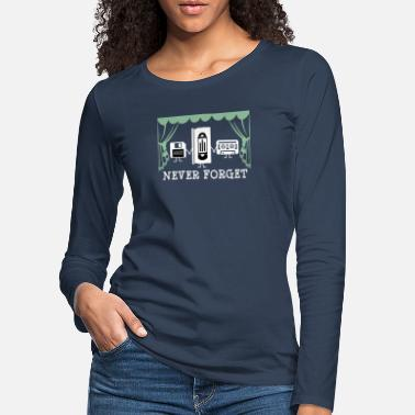 Vintage Never forget - floppy disk video cassette - Women's Premium Longsleeve Shirt