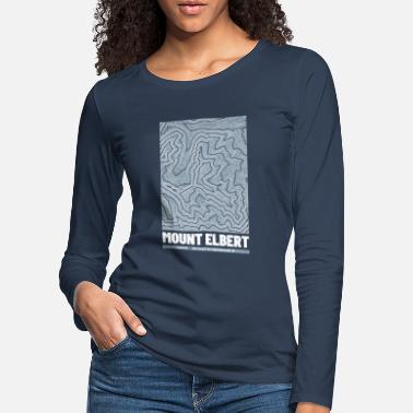 Cartography Mount Elbert | Map Topography Grunge - Women's Premium Longsleeve Shirt