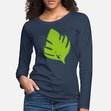 Monstera Leaf Monstera Leaf Stielblume Blume Pflanze - Frauen Premium Langarmshirt