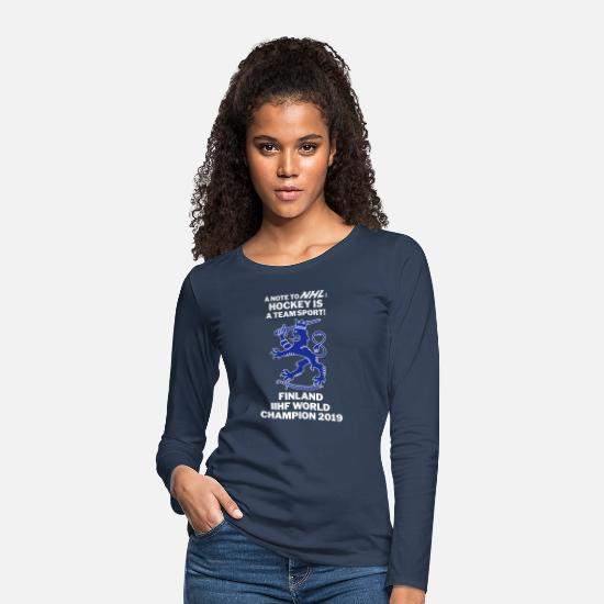 Teamsport Long sleeve shirts - IIHF2019 - Hockey is a team sport - Women's Premium Longsleeve Shirt navy