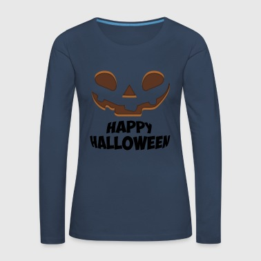 Happy Halloween Face - Women's Premium Longsleeve Shirt