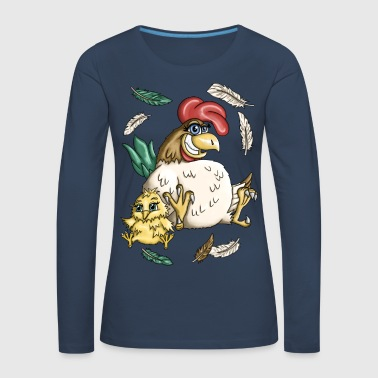 Wild chicken - Women's Premium Longsleeve Shirt