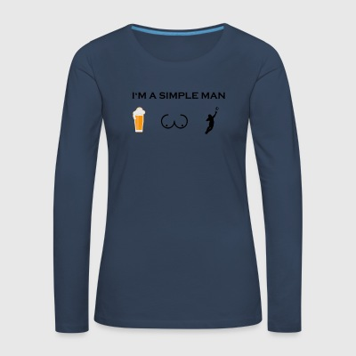 simple man boobs bier beer titten torwart stuermer - Frauen Premium Langarmshirt