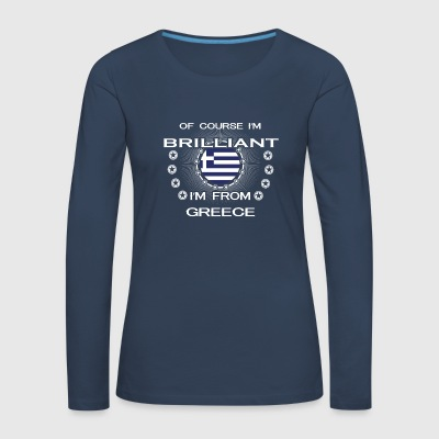I AM GENIUS CLEVER BRILLIANT GREECE - Frauen Premium Langarmshirt