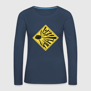 Mind Explosion Brain Brain Icon Icon Warning - Women's Premium Longsleeve Shirt