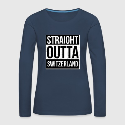 Straight Outta Sveits - Premium langermet T-skjorte for kvinner