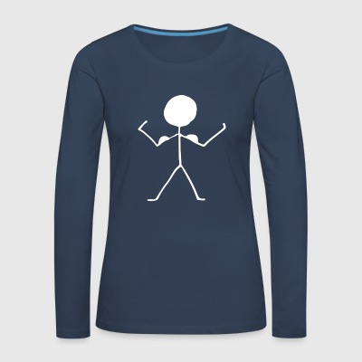 stick figure - Women's Premium Longsleeve Shirt