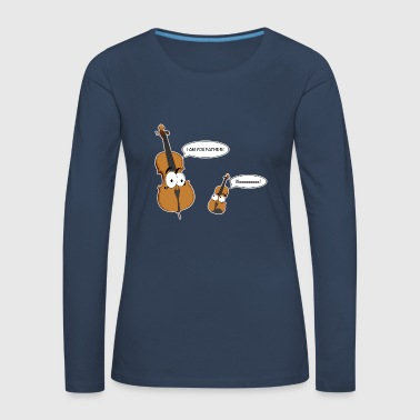 Personified Cello says to personified Violin - Women's Premium Longsleeve Shirt