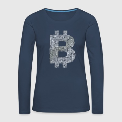 bitcoin symbol money internet pc computer currency - Women's Premium Longsleeve Shirt