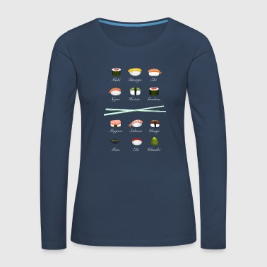 sushi kit3 sticks Übersicht bestellen to go food - Frauen Premium Langarmshirt