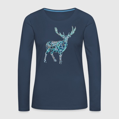 Blue deer - Women's Premium Longsleeve Shirt