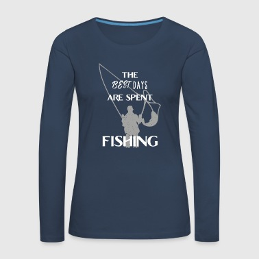 Fisherman angler fishing fishing gift fish rod - Women's Premium Longsleeve Shirt