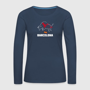 Bullfighting Torero blood Barcelona Spain holiday tr - Women's Premium Longsleeve Shirt